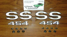 SS 454 Fender Emblem 6 pc set White Chevelle El Camino emblems 1970 1971 1972