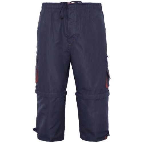 MENS 3//4 SHORTS SUMMER COTTON SWIM ELASTICATED WAIST CARGO COMBAT BEACH PANTS