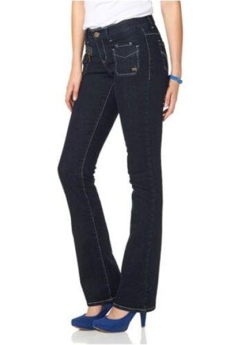 Tratto Svasati Pantaloni Gr Slavati 48 Nuovo Blu Jeans 34 Denim Di Arizona Donne x7SRnTq