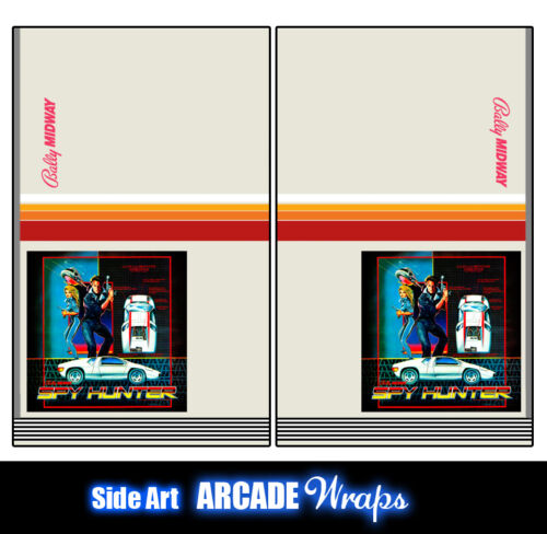 Spy Hunter Arcade Side Artwork Panel Stickers Graphics / Laminated All Sizes