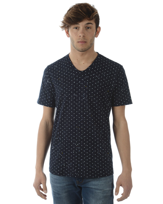 T shirt Maglietta Daniele Alessandrini Sweatshirt herren Blau M6186E688IM3700 123
