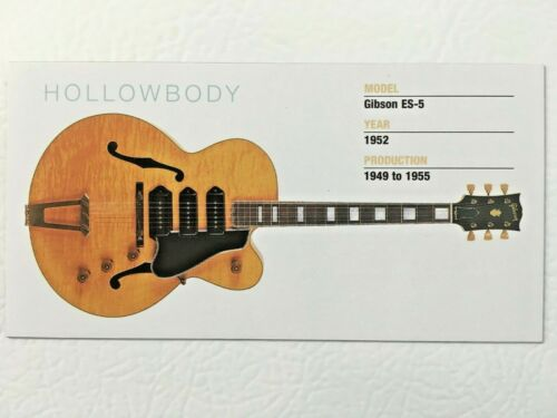 "Gibson Fender Rickenbacker Guitar Fridge Magnet 5.25/"" x 2.75/"" Solid Hollow NEW"