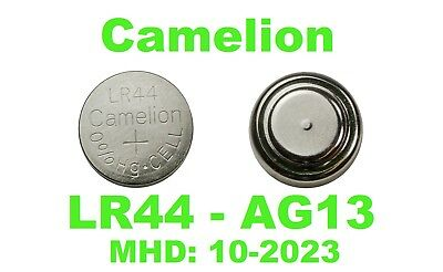 Ag13 Lr44 Camelion Knopfzellen G13 Sr44w Alkaline Uhren Batterien 2-100 Stück