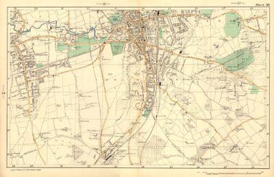 Able South Croydon Carshalton Wallington Waddon Beddington Purley. Bacon 1903 Map