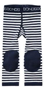 Bonds Leggings Black and White Stripe