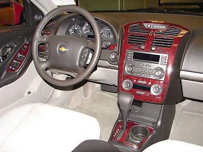 Chevrolet CHEVY SILVERADO INTERIOR BURL WOOD DASH TRIM KIT SET 2003 2004 2005 2006