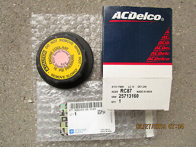 ACDelco RC87 Coolant Recovery Tank Cap 25713160