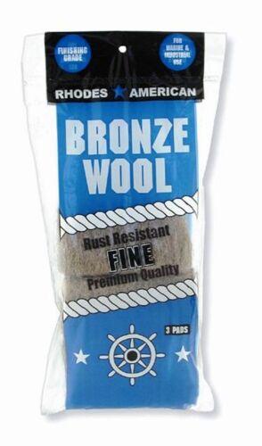 Bronze Wool 10 ea 3 Pad Pack Fine