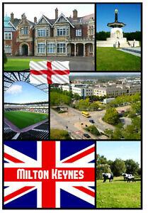 MILTON-KEYNES-SOUVENIR-NOVELTY-FRIDGE-MAGNET-SIGHTS-FLAGS-NEW-GIFTS