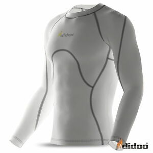 Mens-Compression-Base-layers-Shirt-long-Sleeve-Top-Long-Tight-Thermal-Fitness