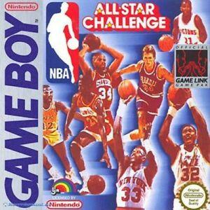 Nintendo-GameBoy-Spiel-NBA-All-Star-Challenge-1-mit-OVP-sehr-guter-Zustand