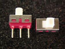 10 C&K 1108M2S3CQE1 SPDT Mom-None-On Mini Slide Switches