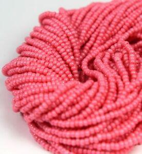 Czech-Glass-Seed-Beads-Size-11-0-034-TERRA-OPAQUE-ROSE-PINK-034-Hank-Strands