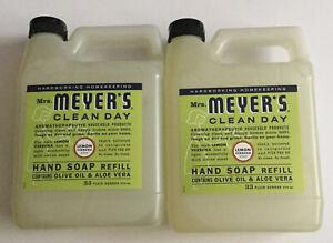 2 Pack Mrs Meyer S Clean Day Hand Soap Refill Lemon