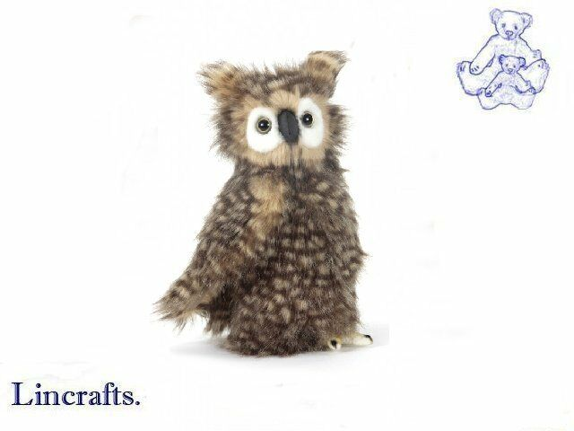 Hansa Fluffy Owl 4465 Plush Soft Toy Bird Sold by Lincrafts Established 1993