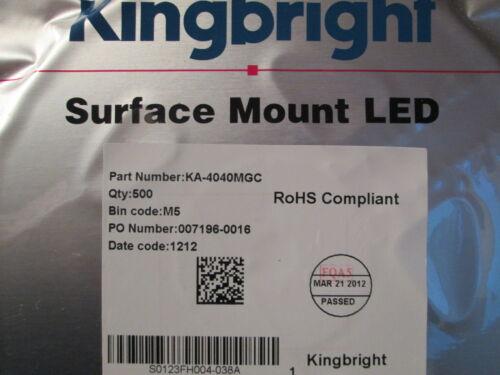 Kingbright LED KA4040MGC,200 St.=19,98 € SIDELED 20mA,3,3V grün,green SMD,SMT
