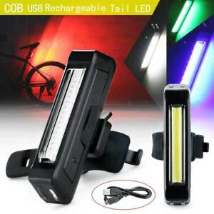Waterproof-COB-LED-Night-Bicycle-Cycling-Front-Rear-Tail-Light-USB-Rechargeable