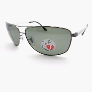 c3661555e6 Ray Ban 3506 029 9A 64mm Matte Gunmetal Green Polarized Sunglasses ...