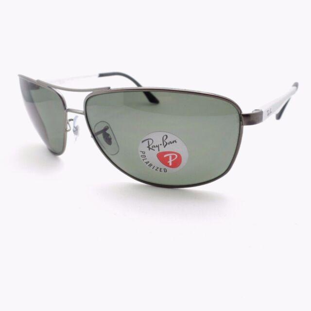 362b740121 Ray Ban 3506 029 9A 64mm Matte Gunmetal Green Polarized Sunglasses Authentic