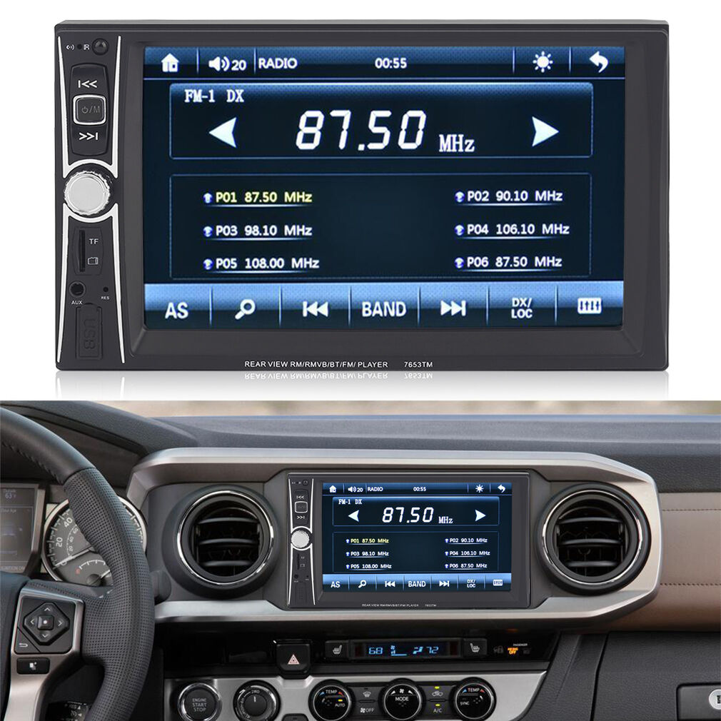 7inch Hd Double 2 Din Car Stereo Bluetooth Touch Screen