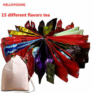 15-Bags-Tea-Assorted-Tieguanyin-Green-Tea-Milk-Oolong-Tea-Dahongpao-Black-Tea