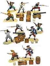 Forces of Valor Pirate Bundle - 10 figures in 5 poses, 2 cannon, 14 accessories