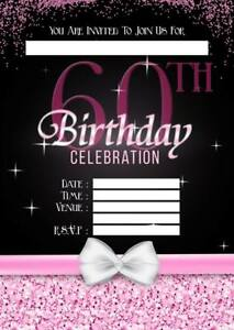 Image Is Loading 60TH BIRTHDAY PARTY INVITATIONS KIDS INVITES PINK LADIES
