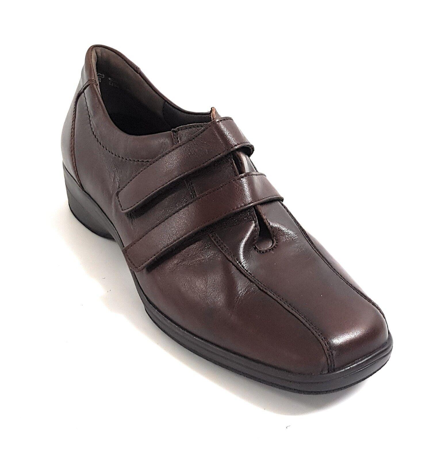 SCHOLL Gelactiv sandali donna pelle TANIA plantare gel Gelactiv SCHOLL calzata ampia NAVY BLU 1f2c9c