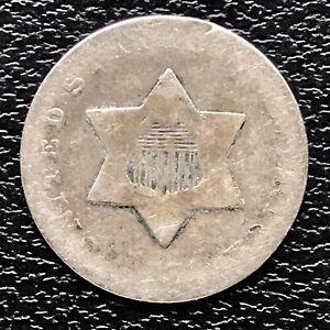 1851-O-Three-Cent-Piece-Silver-Trime-3c-Circulated-RARE-17462