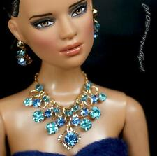 """Rhinestone Necklace and Earring Jewelry Set for 16"""" Tonner Tyler doll 164B"""