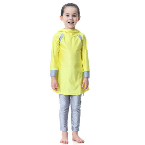 Full Cover Modest Muslim Swimsuit Mädchen Kinder Badeanzug Islam Burkini 74-170