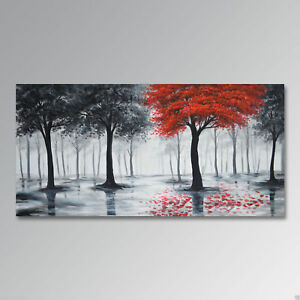 YA825-Modern-Home-decor-art-Hand-painted-oil-painting-on-canvas-Tree-No-Frame