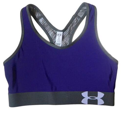 Under Armour Women/'s Heatgear Mid Sports Bra Purple S
