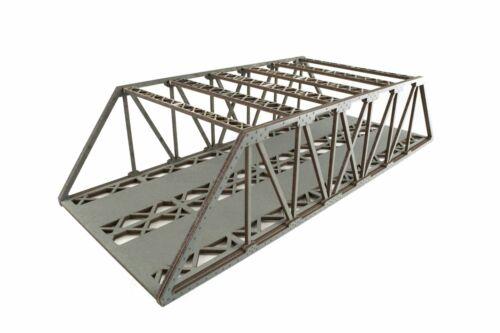 WWS Ponte Travatura Reticolare 2 Binari Grigio 560mm (Hi-Detail) - 00/HO