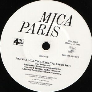 MICA-PARIS-two-in-a-million-BRW-285-near-mint-disc-uk-1993-7-WS-EX