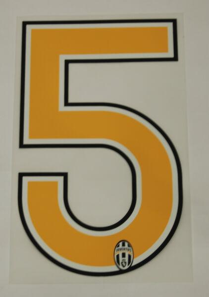 Creativo Juventus F.c. Grafiche Ufficiali Numero 5 Stagione 06/ 07 Per Maglia Home Gradevole Al Gusto