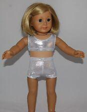 "SPARKLE PINK SPORTS BRA /& SHORT SET Dance//Cheer Fits 18/"" American Girl Dolls"