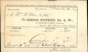 1872 Receipt Mrs B More Edward Caree