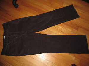 Women-039-s-Cato-Brown-Thin-Corduroy-Pants-W-Stretch-Size-12-Good-Condition