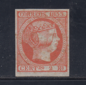 SPAIN-1853-MINT-Sc-21-EDIFIL-19-2-r-FORGERY