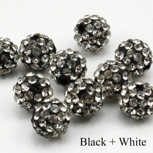 10mm Clay Crystal Disco Ball Beads Make Shambala Bracelects 23 color choices
