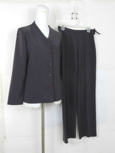 Womens Purple Striped Pant Suit 2 piece Size Small