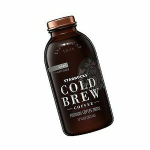 Starbucks Cold Brew Coffee Black Unsweetened 11 Oz Glass Bottles 6 Count