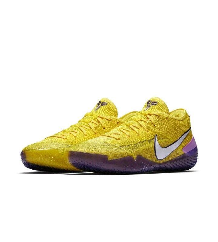 Nike Mens Kobe AD NXT 360 Yellow Strike Mamba Lakers Size 10 (AQ1087-700) New