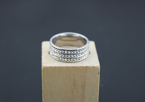Mixed Design Lots 30pcs stainless steel Rhinestone Wedding Top Charm rings