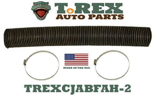 "1958-1971 Jeep CJ5,CJ6 4 1//2/"" diameter Fresh Air Box Hose pre-cut 30/"" w// clamps"