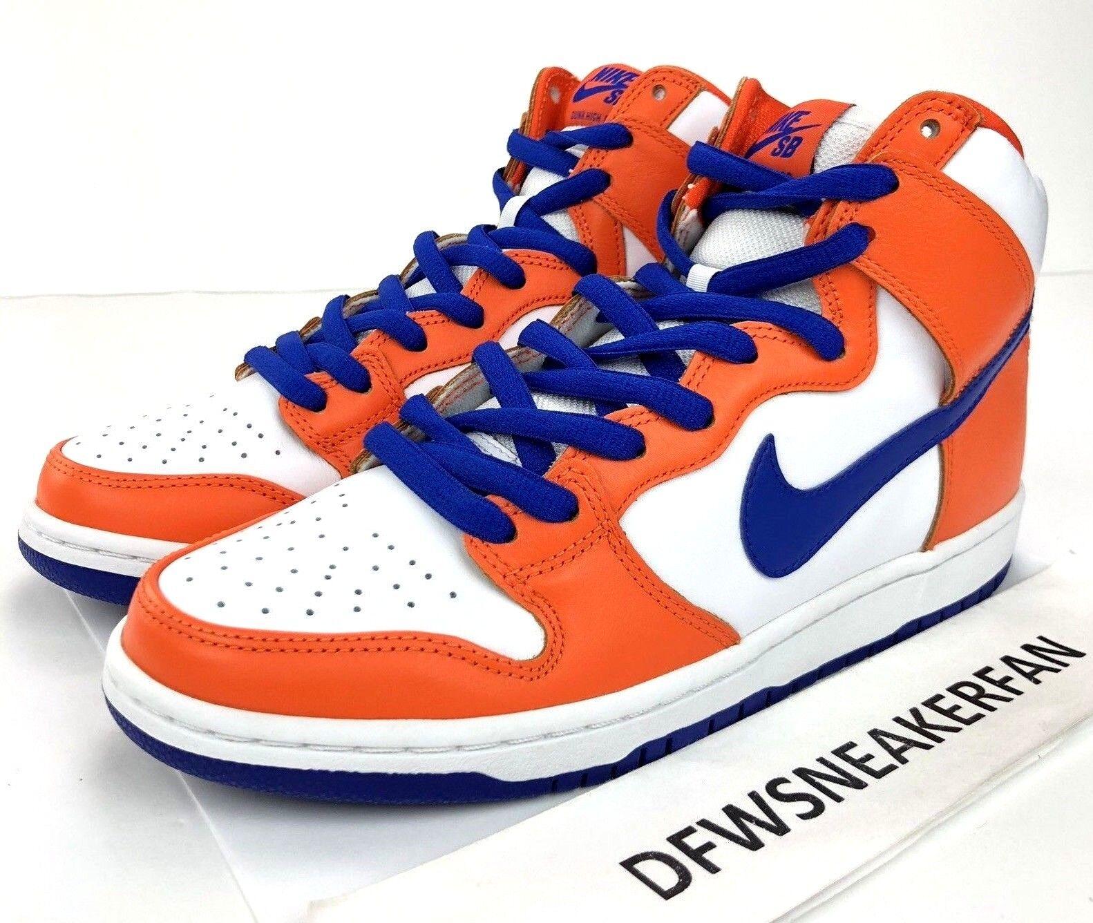 Nike SB Dunk Hi TRD QS  Danny Supa  Men Size 10.5 orange bluee AH0471-841 Knicks