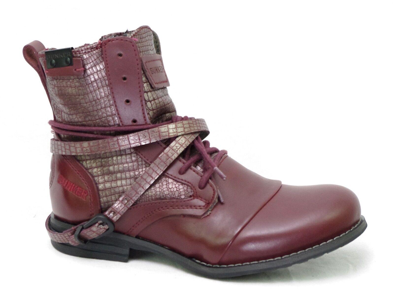 Zapatos especiales con descuento BUNKER boots mujer cuir bordeaux KOL LU37 BURDEOS