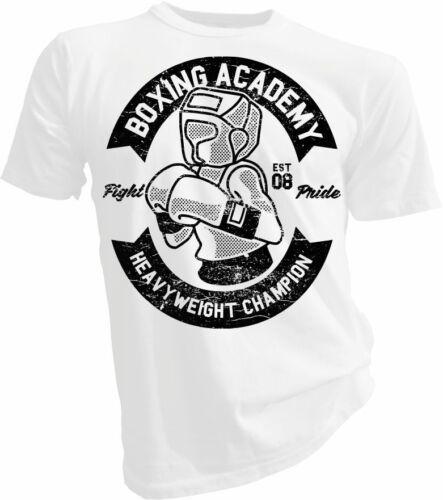 UFC Boxer Unisex T-shirt Scatola ACCADEMIA Pugilato Lotta MMA