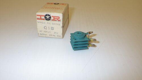 BRIDGE SELENIUM RECTIFIER NIB IRC Q1B 25V DC OUTPUT 100MA MAX SINGLE PG